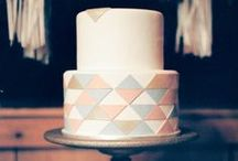 Geometric cake designs / Contemporary cakes with optical illusions!