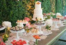 Wedding sweet tables / Amazing ways to present a variety of sweets and desserts at your wedding.