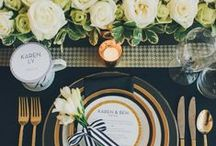 Wedding table settings / Lots of fantastic ideas to wow your wedding guests.