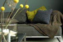 Grey and Yellow Interior / Grey and yellow interior concept