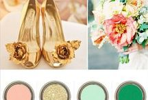 Wedding colour themes / Inspirational colour themes and ideas for weddings.