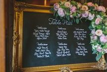 Wedding seating plans / Stylish ways to direct your wedding guests to their table.