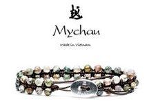 """Mychau - Bracciali Double / La serie """"DOUBLE"""" di Mychau è una variante del bracciale a 1 giro in cui le pietre sono infilate a coppia.  In questa versione il bracciale risulta molto luminoso e le pietre sono le vere protagoniste."""