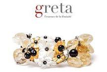 """Gioielli Unici - Greta Unica / La collezione di gioielli """"Greta Unica"""" è tra le linee speciali più esclusive e preziose prodotte da Aria Preziosa srl.  È caratterizzata da """"pezzi unici"""" realizzati da designer della gioielleria utilizzando metalli preziosi, pietre e gemme semipreziose e preziose.  La collezione Greta Unica è venduta corredata di una speciale garanzia di originalità e codice ID del gioiello a garanzia della sua unicità e provenienza."""