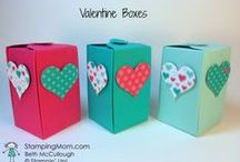 Valentine's Day / Make a hand stamped Valentine card or gift using Stampin' Up! products. Card making, 3D gifts & inspiration posted at http://StampingMom.com