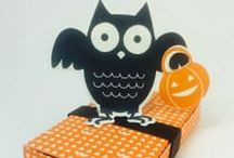 Halloween / Make a hand stamped Halloween card or gift using Stampin' Up! products. Card making, 3D gifts & inspiration posted at http://StampingMom.com