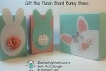 Easter / Make a hand stamped Easter card or gift using Stampin' Up! products. Card making, 3D gifts & inspiration posted at http://StampingMom.com