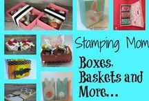 3-D Gifts / Make a hand stamped gift using Stampin' Up! products. Card making, 3-D gifts & inspiration posted at http://StampingMom.com