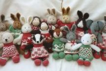 Little knitted toys,