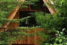 homes in beautiful places / domy z pięknym widokiem za oknem