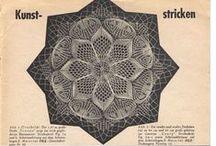 Kunststrick Muster - serwetki na drutach