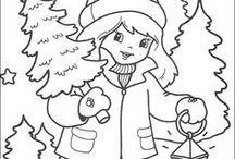 christmas for coloring / kolorowanki wigilijne