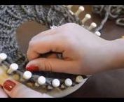 """Loom Knit / Obręcz dziewiarska / zaczynam zabawę z obręczami,przyznam że druty i szydełko to była domena mojej Mamy,nareszcie mam szansę dołączyc do dziewiarskiego grona,tutaj znajdą się pomysły robótek na obręczach,a może i wkrótce moje """"dzieła"""" ;)"""