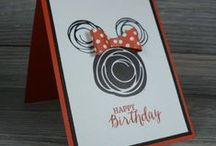 Disney / I love everything Disney! Make a hand stamped Disney card or gift using Stampin' Up! products. Card making, 3D gifts & inspiration posted at http://StampingMom.com