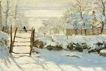 ART : COUPS DE COEUR ... / la pie   Monet / by Suzanne
