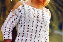 BLUSAS, CAMISETAS, JERSEYS, TOP,..DE GANCHILLO/CROCHET / GANCHILLO/CROCHET / by Charo Berraquero