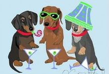 Doxie Humor / Dachshund humor found in cartoons and other print media.