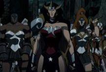 Marvel & DC Woman cartoon