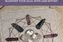 Crystal Manifestation Grid / Crystals and gemstones helpful in manifesting your goals and aspiration. Can be used in crystal manifestation grid.