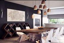 Dining Rooms / Modern organic contemporary dining room design.