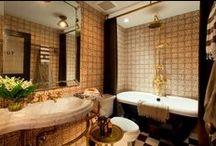 Terracotta Bathroom Tiles / Custom terracotta tile for luxury bathroom remodel projects. Inspired by Moroccan, Moorish, and Tunisian terra cotta tile designs.