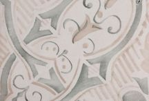 Hand crafted tiles / Some close up shots of antiqued decorative tiles