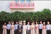 AEP Weddings / diy wedding, groomsmen attire, bow ties, suspenders, groom, outdoor wedding, indie wedding, whimsical wedding