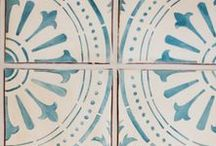 Into the Blue / Tabarka blue tile inspired by travels abroad, classic patterns, and colors of the coastline