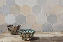Tangier Zellige Collection / Zellige is a handmade natural clay with origins in the ancient Mediterranean and the Middle East. Each tile has a unique irregular finish, with a subtle depth and reflection making Tangier a great fit for both traditional or modern projects.