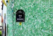 """Tiles Inspired by Rue des Rosiers / """"Joie de vivre"""" was our inspiration for this collection of terracotta tile and we found it in the heart of Paris' Jewish Quarter, the Marais. Rue des Rosiers not only has significant historical relevance but it is also famous for fashion with an eclectic prevalence of boutiques ranging from quaint to sleek, modern & contemporary luxury."""