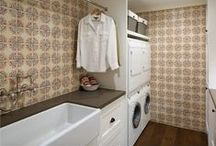 Terracotta Laundry Rooms Tiles / Hand painted terracotta tile for luxury laundry room remodels and custom backsplash projects. Inspired by cultures worldwide.