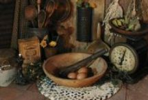 Antique Country-Primitive / Things produced in a former period of time, that is considered valuable because of its rarity or beauty--old fashioned, outmoded, and made earlier and in simplistic times.    / by June Coker