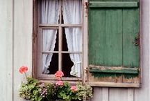 Windows, window boxes and cottage gardens / by Crystal Moon