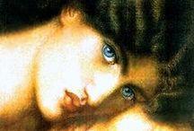 PRE-RAFAELITAS / Movimiento artístico que surge en Inglaterra a mediados del siglo XIX constituido por Millais, Hunt y Rossetti (fundadores de la Hermandad de los Prerrafaelitas en 1848) que tiene como objetivos luchar contra el academicismo y los males de la sociedad industrial.  Se integraron artistas como Burne-Jones, F. Madox Brown, Leighton o William Morris.