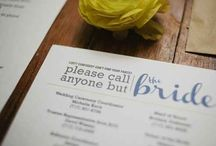 Overall wedding thoughts and ideas!! / Whenever I get married, I may like to incorporate some of these nifty ideas.