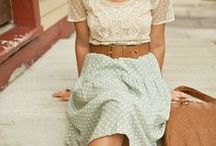 Outfits /  I like cute, casual, girly outfits that has a touch of preppy and boho chic, and a hint of parisian/gamine.