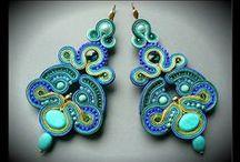 Soutache earrings / Maya's design - unique soutache jewelry