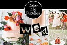 color me WED / Color Palette: Magnolia Rouge & Hey Wedding Lady / by color me pixelled