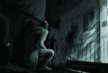 Down The Drain / A board about a horror game called Outlast