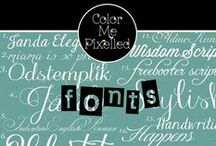 color me FONTS / All things font. / by color me pixelled