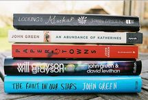 "• John Green Books • / ""You will go to the paper towns and you will never come back"" ""I go to seek a great perhaps"" I read two John Green's books - Looking for Alaska & Paper Towns."