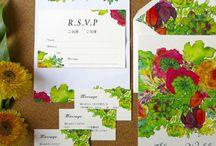 お洒落招待状 / #love #invitation #diy #wedding #paperitem #favorite #cool #プレ花嫁 #結婚式 #招待状 art #design #happy #weddinginvitation #wedding #botanical #プレ花嫁
