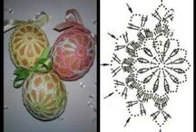 Horgolt húsvéti minták