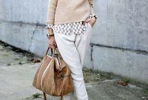 Beige / White Fashion