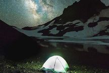 Starry Nights / Beautiful Night shots of the stars and outdoors. #stars #backpacking #hiking #mountains