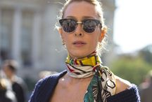 Scarf Chic / How to wear scarves #scarf #scarves