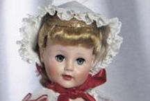Ideal Play Pals Vinyl & Celluloid Dolls / I really love the ideal play pal dolls. They are fun to display and dress because of their size plus they have beautiful details.