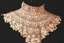 Irish Lace & Crochet / Irish lace has always been an important part of the Irish needlework tradition. When times were hard, women had to find ways of supporting their family. This was particularly true during and after the great potato famine of the 1840s. Most women could do needlework, so it was only a short step to lace-making. Irish Crochet and Tatting traveled particularly well as equipment needed was simple, a ball of cotton and a shuttle for Tatting and simple crochet hook and cotton for Irish Crochet lace