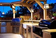 Fire place & outdoor kitchen