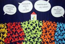 Dekoracje / Oprawy plastyczne uroczystości szkolnych, dekoracje okolicznościowe.